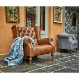 Theo Leather Wing Chair