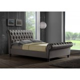 Castello Grey Double Bed Frame