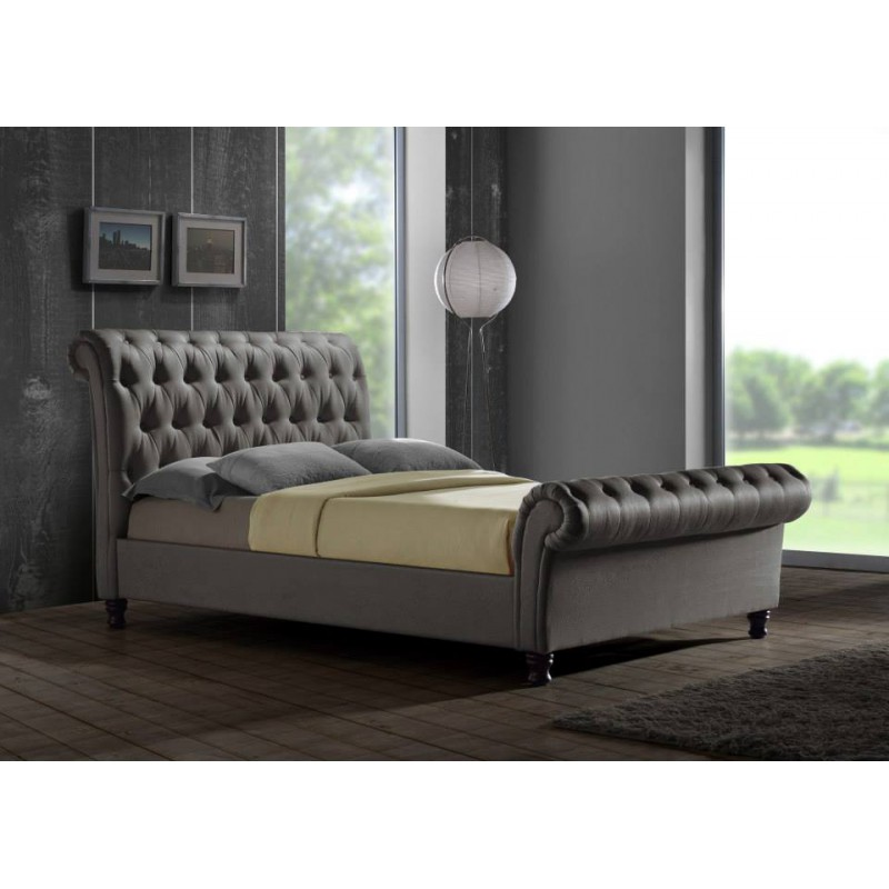 Grampian Furnishers Castello Grey King Size Bed Frame
