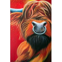 Horny Coo Art - Chief Red Bull