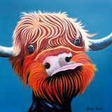Horny Coo Art - Wee Glaikit Moo