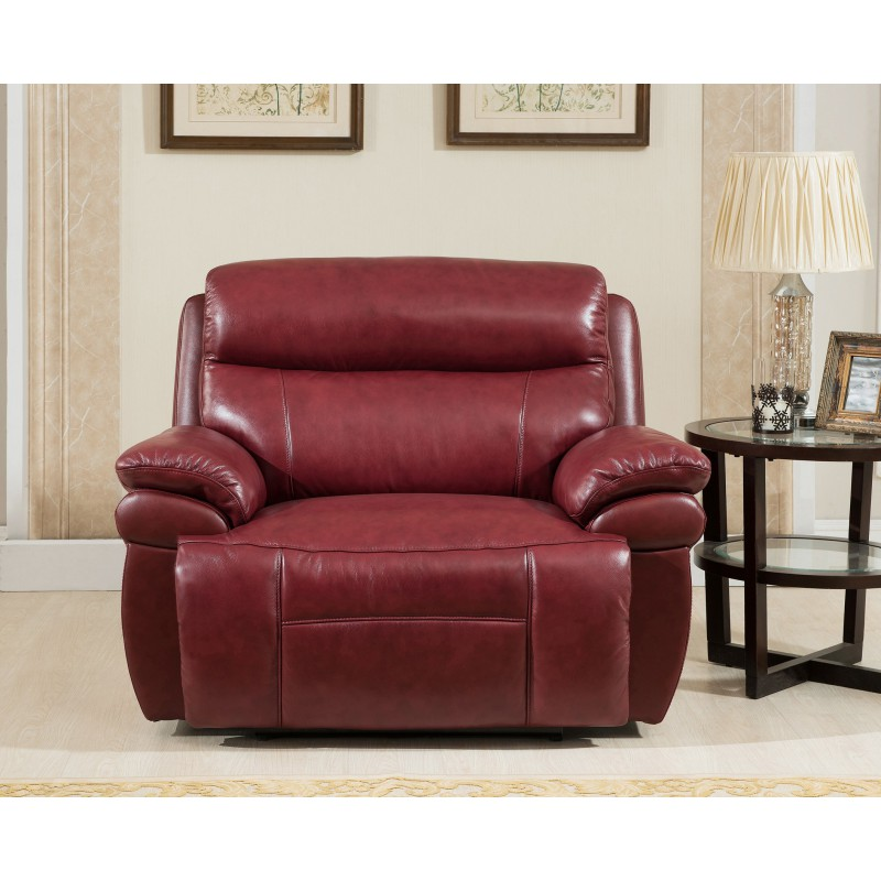 Beau Boston Leather Snuggle Recliner Chair ...