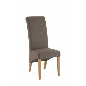 Hampton Brown Fabric Dining Chair