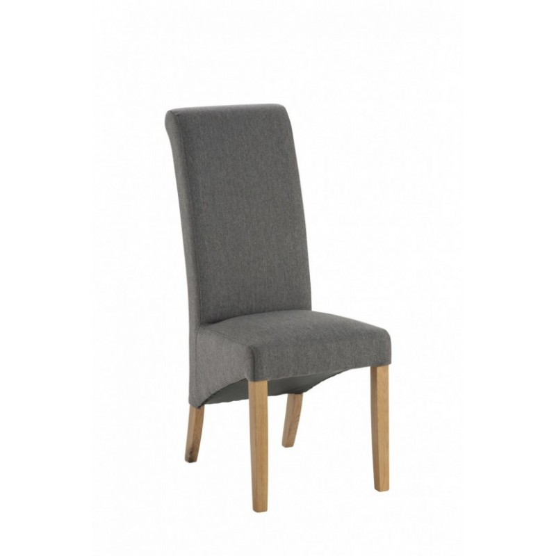 Grampian Furnishers Hampton Grey Fabric Dining Chair
