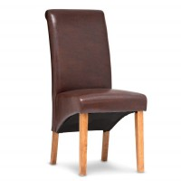 Henley Antique Brown Faux Leather Dining Chair