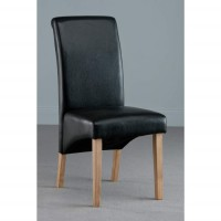 Henley Black Faux Leather Dining Chair