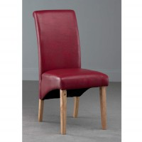 Henley Red Faux Leather Dining Chair