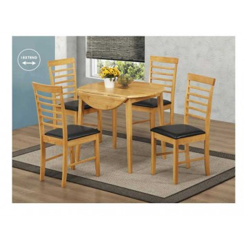 Hanover Round Drop Leaf Set (4chairs)