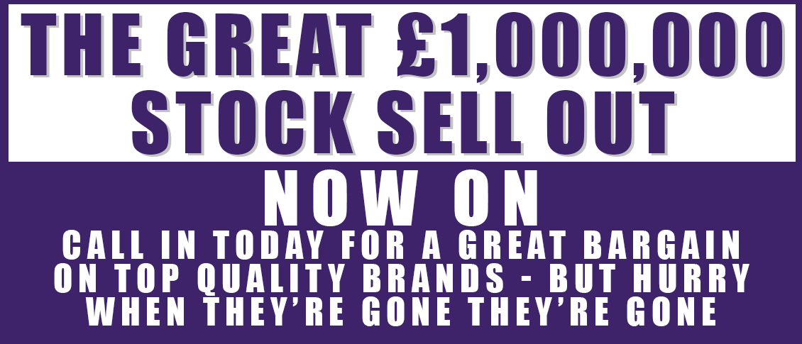 The Great £1,000,000 sale now on